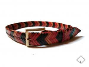 giovanniceleste.it cintura intrecciata pelle canguro - kangaroo plaited belt (4)