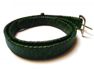 braided plaited kangaroo hide belt - cintura intrecciata pelle canguro  (10)
