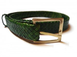 braided plaited kangaroo hide belt - cintura intrecciata pelle canguro  (4)