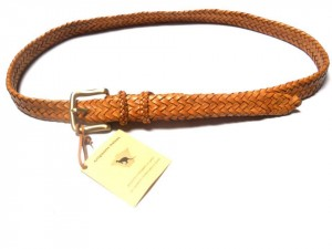 braided plaited kangaroo hide belt - cintura intrecciata pelle canguro (1)