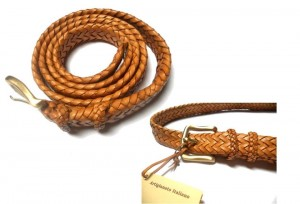 braided plaited kangaroo hide belt - cintura intrecciata pelle canguro (2)