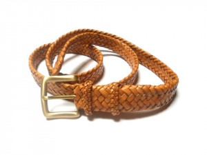 braided plaited kangaroo hide belt - cintura intrecciata pelle canguro (3)