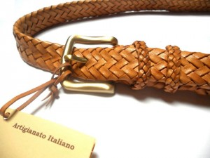braided plaited kangaroo hide belt - cintura intrecciata pelle canguro (5)