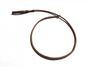 Braided plaited kangaroo hide dog leash - guinzaglio intrecciato in pelle di canguro (1)