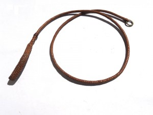 Braided plaited kangaroo hide dog leash - guinzaglio intrecciato in pelle di canguro (2)