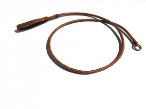 Braided plaited kangaroo hide dog leash - guinzaglio intrecciato in pelle di canguro (6)