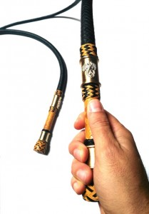 Matched Pair Bull  whips 4ft kangaroo leather - Coppia fruste bull whip intrecciate in canguro  (7)