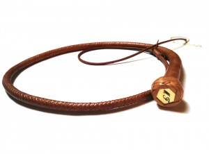 Snake whip braided kangaroo leather frusta snake whip intrecciata in pelle di canguro (12)