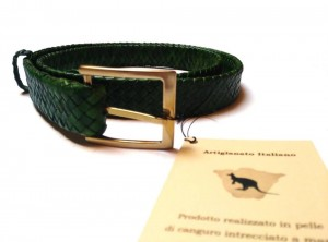 braided plaited kangaroo hide belt - cintura intrecciata pelle canguro  (6)
