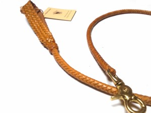 Braided plaited kangaroo hide dog leash - guinzaglio intrecciato in pelle di canguro (11)