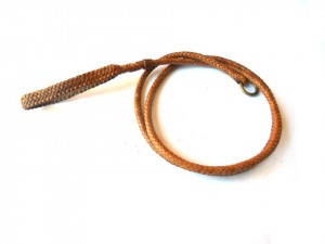 Braided plaited kangaroo hide dog leash - guinzaglio intrecciato in pelle di canguro (3)