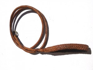 Braided plaited kangaroo hide dog leash - guinzaglio intrecciato in pelle di canguro (4)