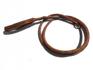 Braided plaited kangaroo hide dog leash - guinzaglio intrecciato in pelle di canguro