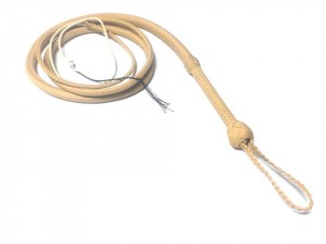 Indiana Jones style paracord whip frusta Paracord Indiana jones style naturale (2)