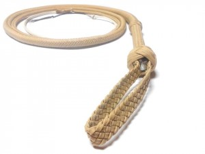 Indiana Jones style paracord whip frusta Paracord Indiana jones style naturale (4)
