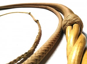 paracord whip twiste handle frusta Paracord manico in legno ritorto (4)