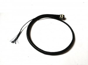 Signal whip braided kangaroo leather frusta Signal whip  (12)