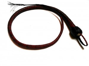 Signal whip braided kangaroo leather frusta Signal whip  (8)