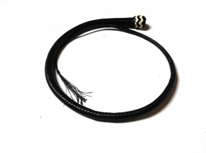 Signal whip braided kangaroo leather frusta Signal whip  (9)