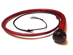 Snake whip braided kangaroo leather frusta snake whip intrecciata in pelle di canguro (10)