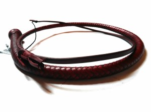 Snake whip braided kangaroo leather frusta snake whip intrecciata in pelle di canguro Bordeaux (1)