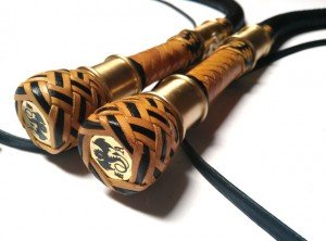 Matched Pair Bull  whips 4ft kangaroo leather - Coppia fruste bull whip intrecciate in canguro  (13)